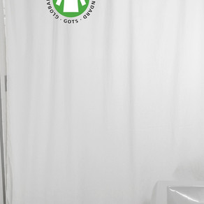 BeanProductsInc Organic Pure Cotton White Shower Curtain (Multiple Sizes / Colors / Materials)