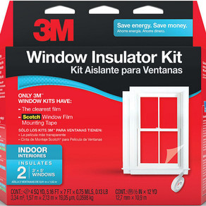 3M ConstructionAndHomeImprovements Window Insulator Kit With Scotch Mounting Tape (Multiple Sizes)