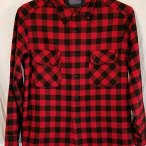 Pendleton Wool Plaid Long Sleeve Button Down Shirt (Vintage)