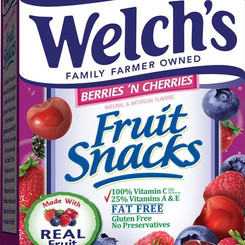 PromotionInMotionCompaniesInc WelchsFoodsInc Real Berries And Cherries Fruit Candy (Multiple Sizes)