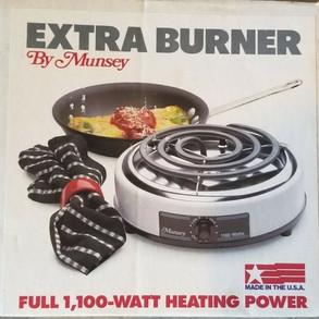 MunseyProductsInc Vintage 120volt 1100watt Extra Burner (#FB1)