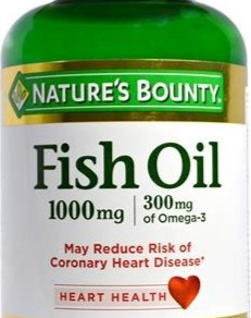 NaturesBountyInc 1000mg Fish Oil Rapid Release Softgels Dietary Supplement (Multiple Sizes)