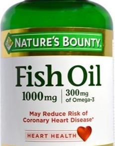 NaturesBountyInc 1000mg Fish Oil Rapid Release Softgels Dietary Supplement (Multiple Sizes)