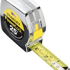 Stanley Powerlock Chrome Enclosure Tape Rule 25 Foot (Model #33-425)