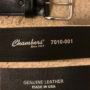 Chambers Black Genuine Leather Uniform Belt (#7010-001)