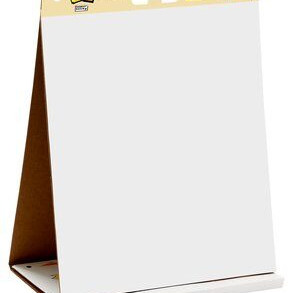 """3M PostIt Tabletop White Paper Easel Pad (20""""x23"""" 20sheets)"""