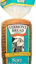 VermontBreadCompany Soft 10 Grain All-Natural Pre-Sliced Bread Loaf