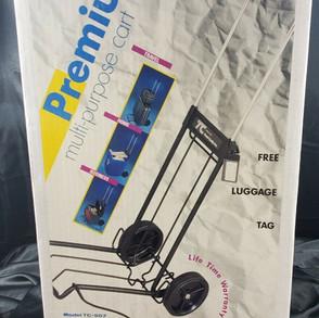 TravelCaddyInc Vintage Premium Multi-Purpose Rolling Cart With Straps