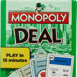 HasbroGaming ParkerBrothers Monopoly Deal Property Trading 2-5 Player Tabletop Card Game