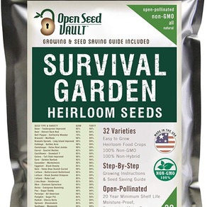 OpenSeedVault Survival Garden 32Varieties Non-Hybrid/GMO Heirloom Seeds