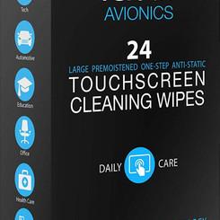 DevonshireIndustriesLimited IClothProducts Large Screen / Glass PreMoistened Display Wipes (24count)