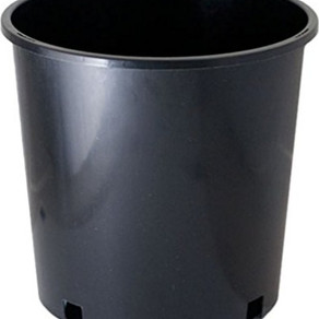 McConkey&Co rEarth Round Black 2gallon Injection-Molded Flower Pot (Model#JMCR2GB)