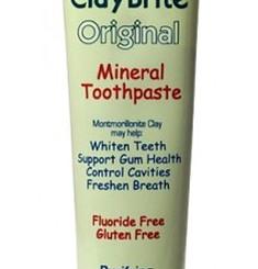 ZionHealth Claybrite Original Natural Mint Flavor Flouride Free Mineral Toothpaste (4oz Tube)