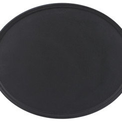 CambroManufacturingCo Camtread Oval Non-Skid Black Serving Tray (Multiple Shapes / Sizes)
