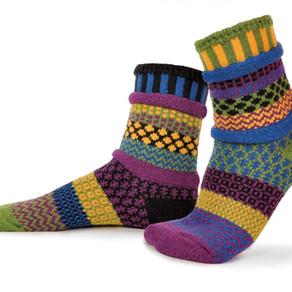 SolmateSocks Mismatched Crew Socks (Multiple Colorful Designs)