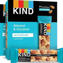 KindLLC KindSnacks Almond And Coconut Gluten/Dairy Free Energy Bar