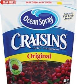 OceanSprayCranberriesInc Craisins Sweetened Dried Cranberries Fruit Snack (Multiple Sizes / Flavors)