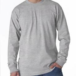 AllAmericanClothing 100% Cotton Long Sleeve Shirt (Multiple Colors)