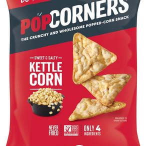 IdealSnacksCorp BFYBrands Pop Corners Kettle Corn Flavor Popped Corn Chip Snack (Multiple Sizes)