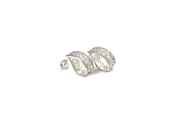 Boucles d'oreilles «Jouvence» avec pierre par créations gli.