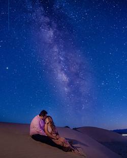 Fotografia de Boda - Foto de los novios con las estrellas de la via lactea