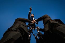 Fotografia de Boda - novio volando