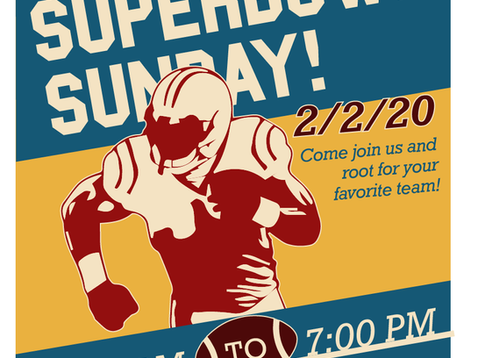 Superbowl Sunday poster