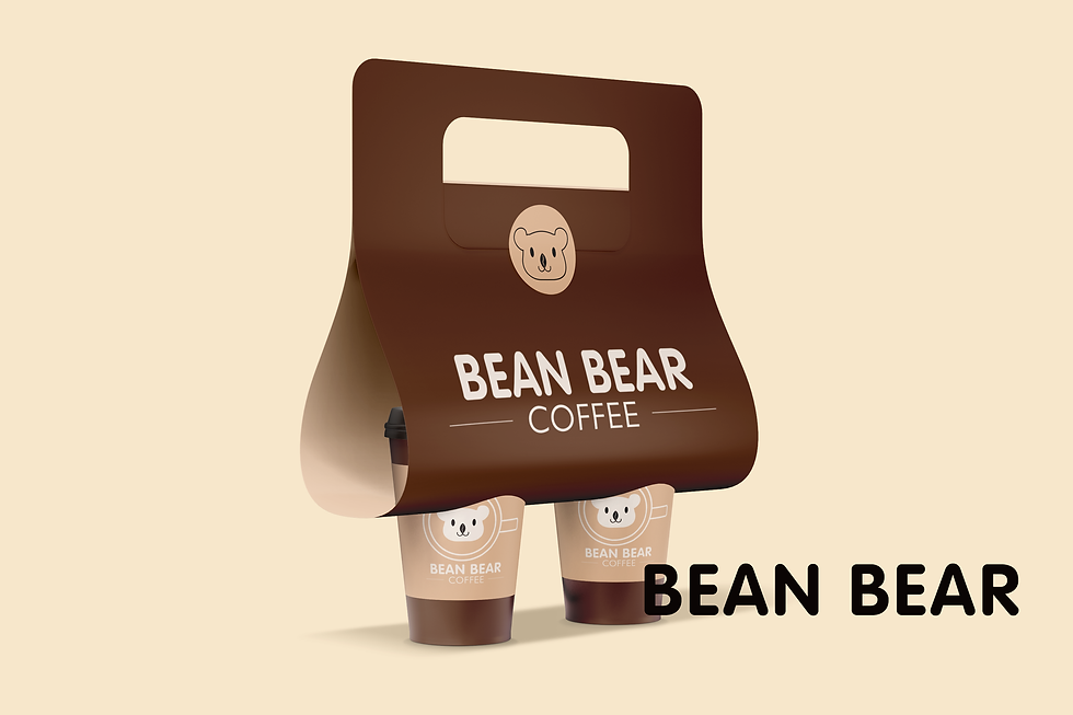 Bean bear Coffee Packaging with Labels 1
