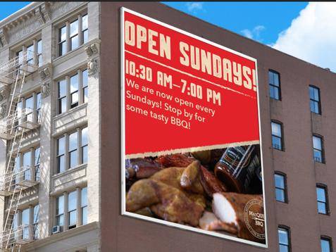 Open Sundays display