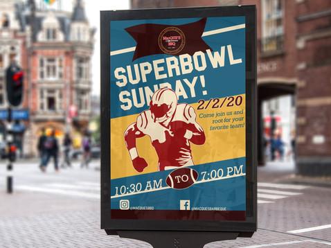 Superbowl sunday Bustop