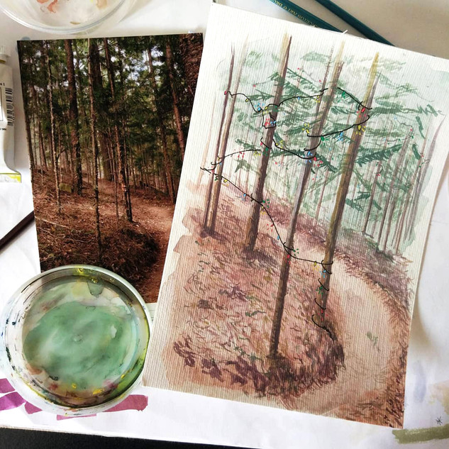 Fairy light forest (sold)