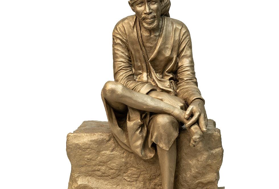 13 inch Shirdi Sai baba Bronze Sculpture