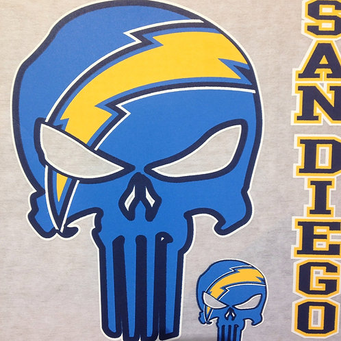 Chargers punisher t-shirt