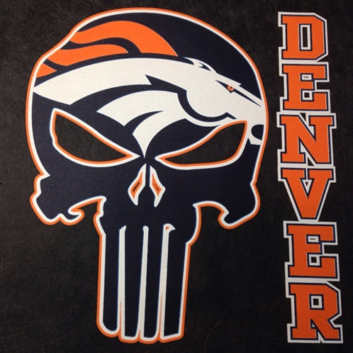 Broncos punisher t-shirt