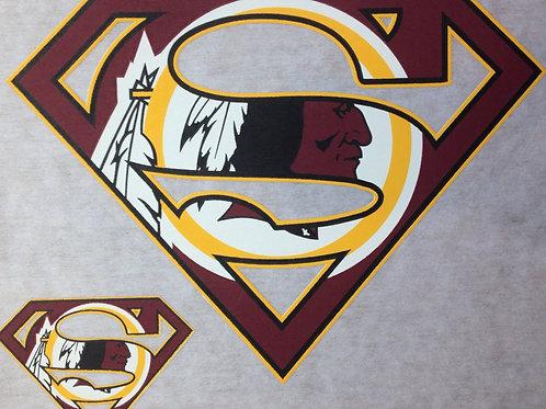 Redskins superman t-shirt
