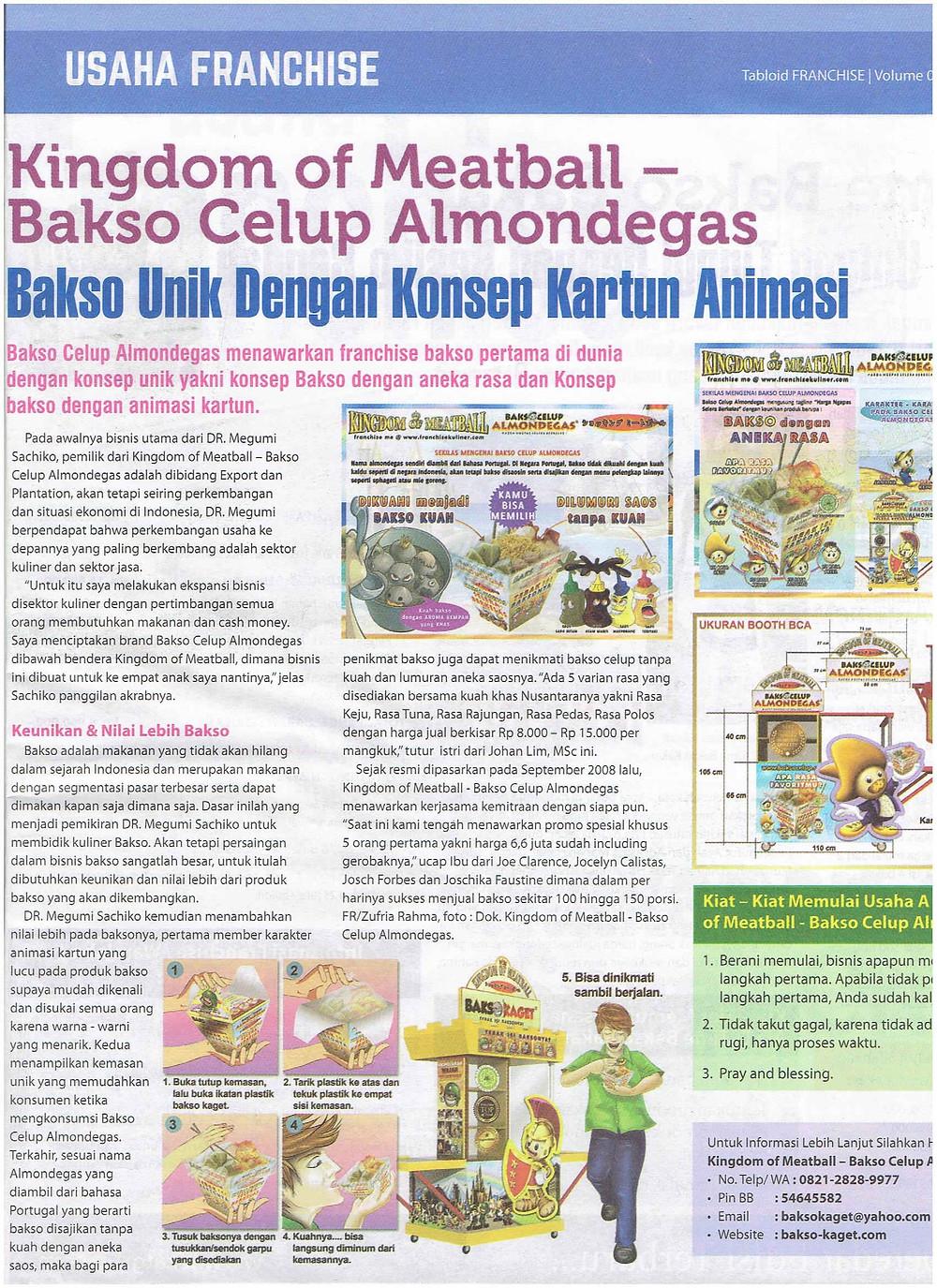 Liputan Peluang Bisnis Bakso Celup - Tabloid Franchise Edisi April 2016