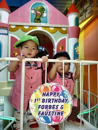 1st Fun Birthday Party of Twins Josch Forbes & Joschika Faustine with Franchise Mall Themes