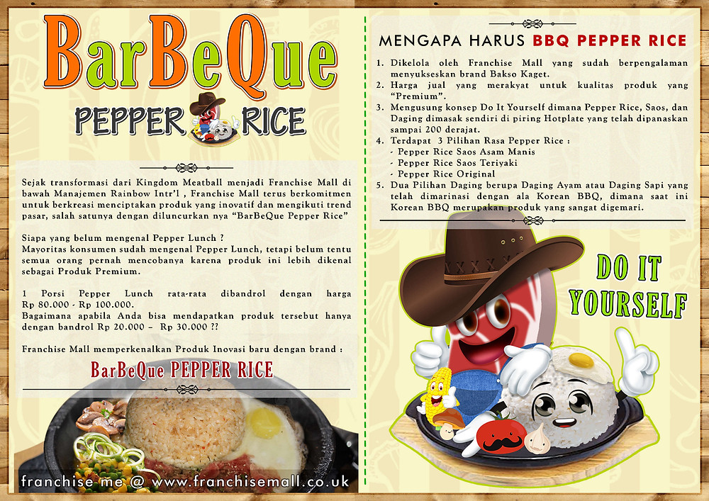 Pepper Lunch - BarBeQue Pepper Rice - Franchise Peluang Bisnis Kuliner Makanan