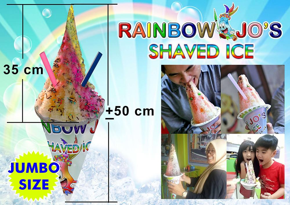 Aloha Rainbow Drink - Es Serut - Rainbow Jo's Shaved Ice - Ice Story