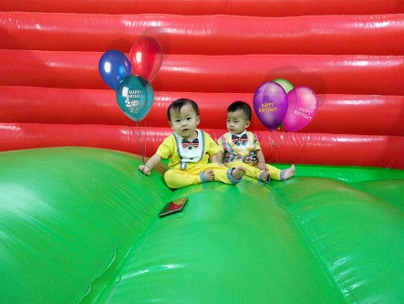 1ST BIRTHDAY PARTY OF TWINS JOSCH FORBES & JOSCHIKA FAUSTINE FROM FRANCHISE MALL