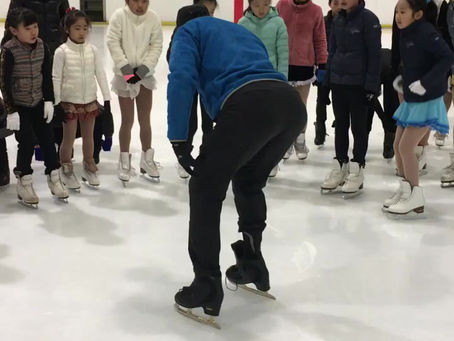 UNLACE SKATES TO PRACTICE FOOT ALIGNMENT