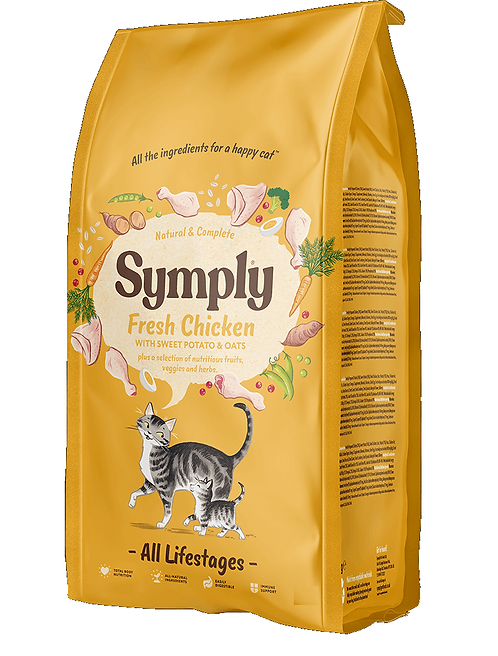 Symply Cat Food Chicken. 375g, 1.5kg, 4kg. Price from