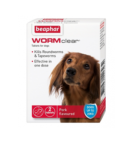 Beaphar WORMclear® Tablets for Dogs (up to 20kg)