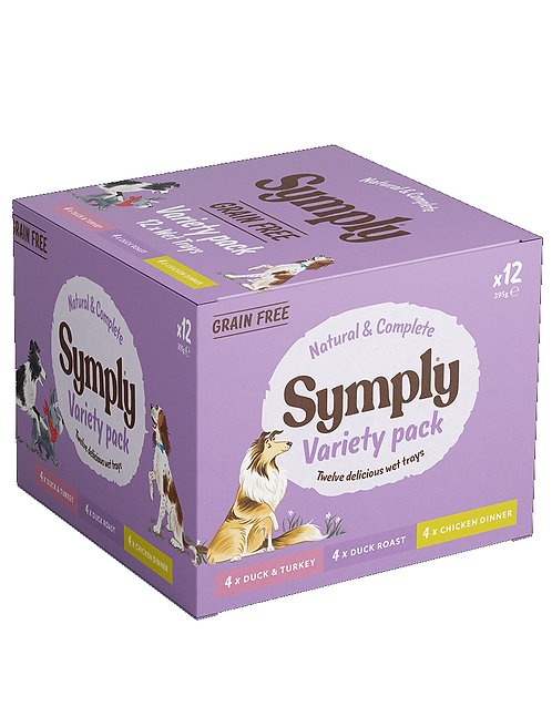 Symply Grain Free Variety pack. 12 x 395g