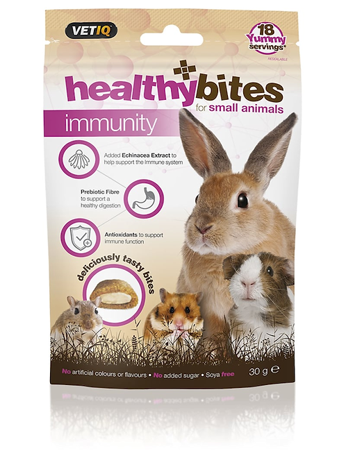 Vetiq Small Animal healthybites Immunity Treats 30g