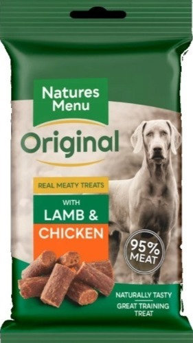 NATURES MENU TREATS  LAMB AND CHICKEN  FOR DOGS 60g