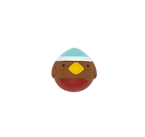 Squeaky Robin Faceball Toy