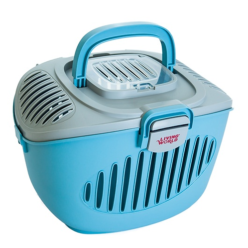 Living World Paws2Go Small Animal Carrier Blue/Grey. Animals Up To 5kg