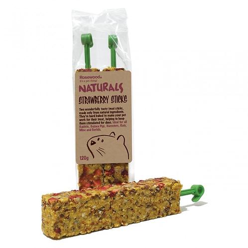 Naturals Strawberry Sticks 120g