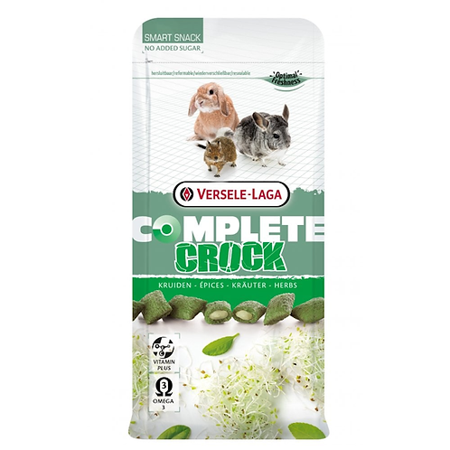 Crock Complete Chinchilla & Degu Herb Treats 50g